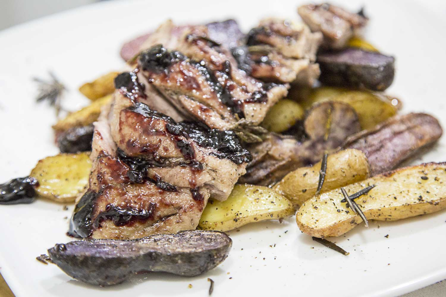 Roasted Duck and Fingerling Potatoes